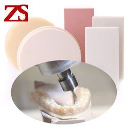 Zs 공구 PU 치과 재료는 PMMA 수지 구획을 맷돌로 가는 Amann Girrbach를 대체한다