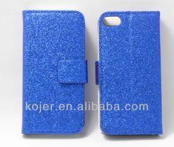 В новых блестящих PU бумажник кожаный чехол для iPhone 5/5s