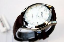 진짜 일본 운동 가죽 손목 시계