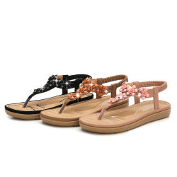 Saltos Plano moda mulheres sandálias de couro