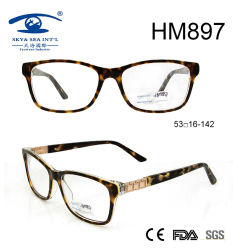 Nueva marco grabado de Eyewear del acetato de la manera suposición (HM897)