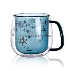 زجاجيّة [كفّ كب] ضعف زجاج مع لون مع لون ثلج عال - درجة حرارة ماء فنجان زجاج