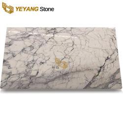 Pulido de alto brillo fina Línea Blanca Nieves azulejos de mármol puro