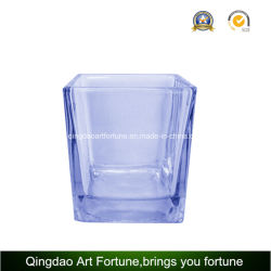 Candle、Floral Home Decorのための正方形のGlass Votive Candle Holder