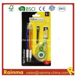 Канцелярские товары с помощью шариковой ручки и коррекция ленту