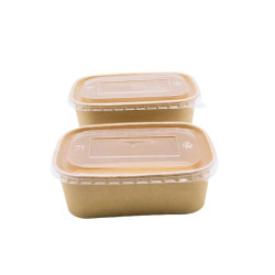 Коричневый прямоугольные бумаги лотки продовольствия риса Bento вынос окно быстрого питания обед бумаги контейнеры