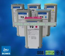 100% Compatível Cartucho de tintas de pigmento de tinta corante para HP Designjet T2300 T1120, Cartucho de tinta compatíveis (HP72)