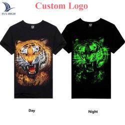 Mode nuit imprimée personnalisée en usine Glow T Shirt dans votre propre style