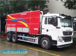 HOWO 18000litersの下水の吸引の真空のトラックは下水道のジェット機で行くクリーニングのトラックによって結合した