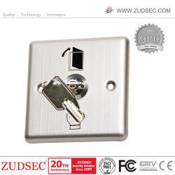 Pressione o botão de liga de alumínio do interruptor do botão de saída de controle de acesso com chave de liberação de RFID