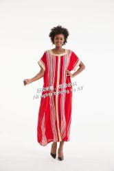 precio de fábrica flores impresas vestido vestido de algodón vestido Kaftan nuevo diseño para la Mujer