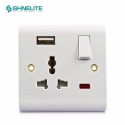 El suministro eléctrico de baquelita de fábrica BS pared luz USB TOMA DE CONTACTO