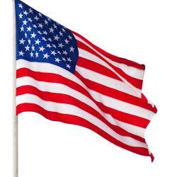 Venda por grosso personalizados de alta qualidade 150x90cm tecido bandeira americana de impressão