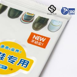 Nettoyage de cirage de chaussures de bonne qualité lingettes humides, cirage à chaussures lingettes humides Tissu nettoyant