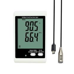 [لكد] [ديجتل] [أوسب] درجة حرارة رطوبة [دتا ركردر] خشّاب ميزان حرارة مرطاب
