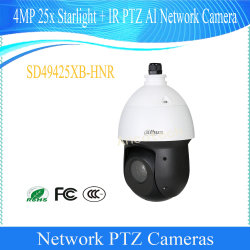 Dahua 4MP 25X Starlight + IR PTZ Ai 통신망 사진기 (SD49425XB-HNR)