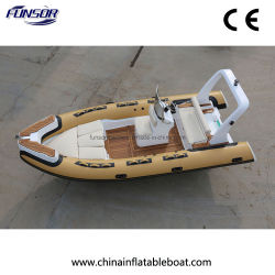Weihai Fibra de vidrio, aluminio de 5,5 m Embarcación inflable rígido Rib barco con tubo de PVC o Hypalon