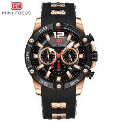 Mf 소형 초점 실리콘 악대를 가진 직업적인 중국 공장 직매 석영 손목 남자 시계