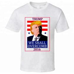 Baratos promocionales personalizados campaña electoral de cuello redondo Camiseta lavado