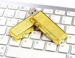 陸軍少尉の階級章USBの棒OEMの金Uのディスクのカスタム金USB