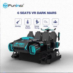 Säulengang-Spiel-Maschine Sitze 9d Vr des 360 Grad-Sturzhelm-6 für Verkauf Simulador 12D