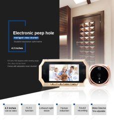 """4.3"""" cor IP de Vídeo do Sistema de interfone vídeo porteiro Phone"""