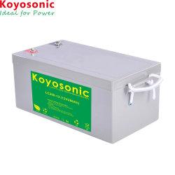 ZonneAccu van de Batterij van het Kwarts van het Kristal van het Lood van de Batterij LC250-12 van het Kristal van het Lood van Koyosonic 12V de 250ah Verzegelde