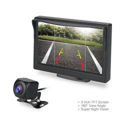 5 de Monitor van het Scherm van de duim HD, 720p de ReserveCamera van de Auto van 180 Graad met het AchterSysteem van het Parkeren van de Mening