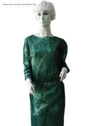 Одноразовый PP без тканого посетитель платье с вязаные манжеты /больница/санитарных