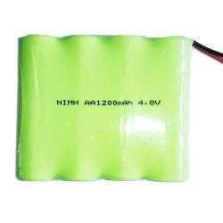 기본 제공 니켈 수소 충전지 AA 4.8V 1200mAh 팩