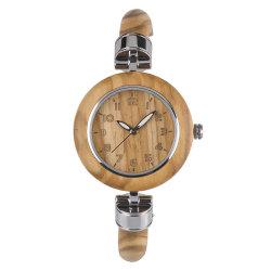 Новый стиль Bewell Bewell деревянные часы оливкового дерева женских смотреть