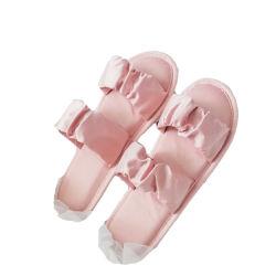 De de Japanse Lente en de Zomer Sandals en Schoenen van het Huis van de Binnen van het Huis van de Vrouwen van Pantoffels Houten van de Vloer Antislip van de Stof Vrouwen van de Pantoffels