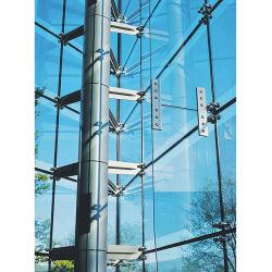 Materiais de construção comercial exterior de vidro do Prédio fachada fixo de vidro completa pontos de fixação de vidro sem caixilho da Parede Lateral