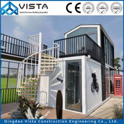 Flat Pack contenedores Contenedor Modular Cabaña casa fabricante, con la energía solar