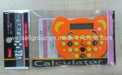 多彩な漫画のポケット電卓か手持ち型の計算機