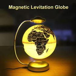جسم غامض ساحر مغناطيسي ضوء LED ضوء 8 بوصة الكرة الأرضية عائم الكرة الأرضية المستوى السمعي المستوى الكرة الأرضية العائمة المغناطيس نموذج C