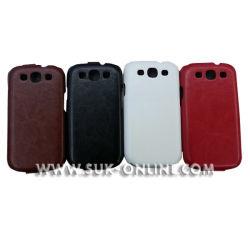 La housse à rabat en cuir de luxe pour Samsung Galaxy S3 I9300 (SGS3027)
