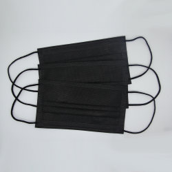 Черный одноразовые маски не тканого 3ply гражданских маску для лица популярный продукт с установленными на заводе прямой продажи