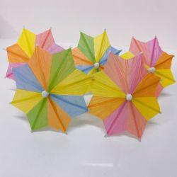 Kuchen-/Kuchen-/Eiscreme-/Frucht-/Cocktail-Dekoration-Papier-Partei-Stock-bunte achteckige Cocktail-Regenschirm-Auswahl