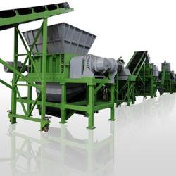 Tdf de pneus de borracha inutilização Triturador Tda maquinaria utilizada máquina de reciclagem de pneus