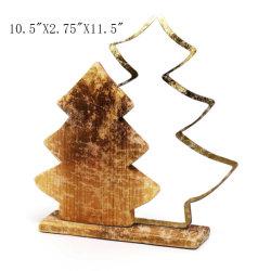 축제 훈장을%s 개인화된 금속 & 나무 크리스마스 나무 두 배 나무