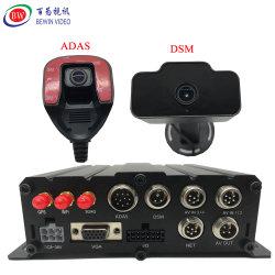 4CH 6CH 8 CH DVR CCTV H. 265 RS485 a RS232 a RS422 Poe RJ45 Câmara IP DVR Móvel Adas Dsm DMS BSD