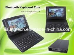 Clavier sans fil avec housse en cuir pour Galaxy Tab P1000