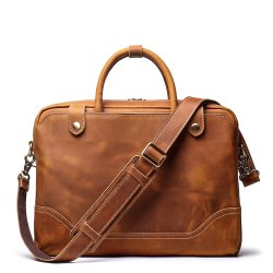 디자인 비즈니스 노트북 빈티지 컴퓨터 핸드백 커피 맨 가방 소프트 양면 가죽 서류 가방