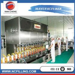 Linha reta pequena rotativa máquina de enchimento de óleo de oliva frasco automática de linha de produção de máquinas de enchimento de líquido
