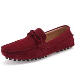 맞춤형 도매 OEM 클래식 로퍼 소 스웨이드 가죽 패션 슬립 겨울 평탄 안전 드레스 남자′ S 캐주얼 드라이브 모카신 신발
