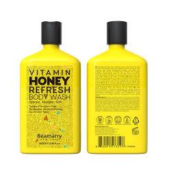 غسل الجسم بفيتامين هوني العضوي الطبيعي الذي يحمل علامة بياماري والتي يبلغ حجمها 380 مل جل دش