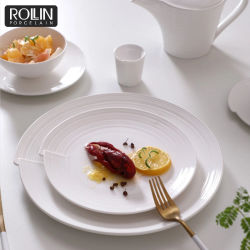 WeddingおよびBanquetのための新しいDesign Porcelain Dinner Set Round Plates