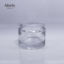 Vaso di vetro libero unico delle estetiche con il vaso vuoto di Bakhoor della protezione di alluminio dorata
