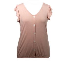 Женщин на основе высококачественной верхней части бамбук эластан блуза короткие втулки футболка